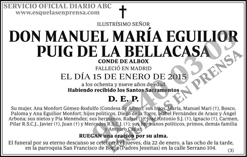 Manuel María Eguilior Puig de la Bellacasa
